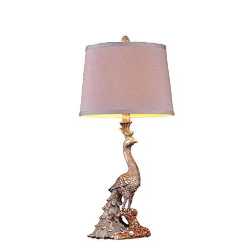 Lampe de table américaine Vintage Peacock lampe de chevet