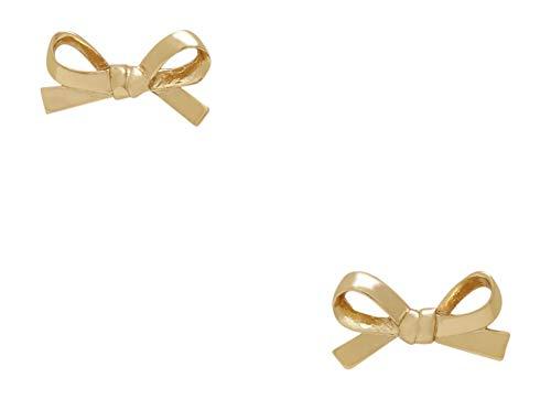 Kate Spade Skinny Mini Bow Stud Earrings, Golden