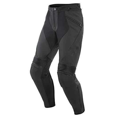 Dainese Pony 3 - Pantalones de cuero para motorista, para hombre, deportista, para todo el año