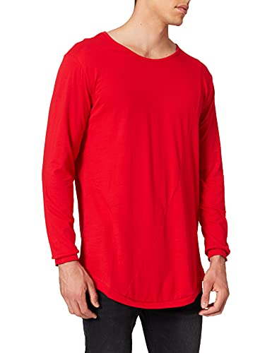 Urban Classics Shaped Fashion Long Sleeve tee Maglia a Maniche Lunghe, Rojo (Fire Red), Small (Talla del Fabricante: Small) para Hombre