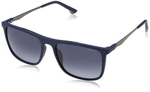 Police Vibe 1 Gafas de sol, Azul (Matte Dark Blue/Black), 55