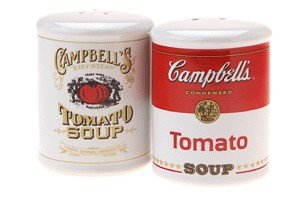 Gift House Campbell's Soup Salt and Pepper Shakers