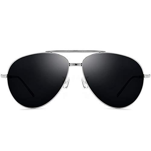 BESTSOON Protección UV de Estilo clásico 100% Titanio polarizado UV400 para Hombres...