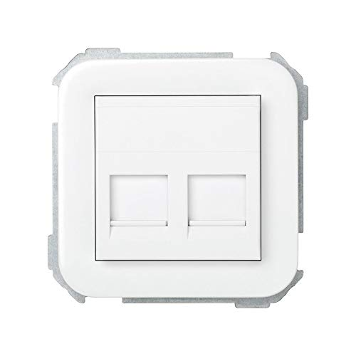 Simon - 31089-60 adaptador 2 rj-45 amp s-31 blanco nieve Ref. 6553130076