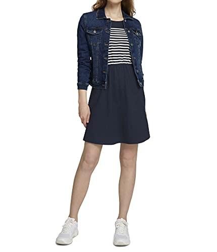 TOM TAILOR Denim Damen 1024956 Jersey Kleid, Sky Captain Blue (10668), XL
