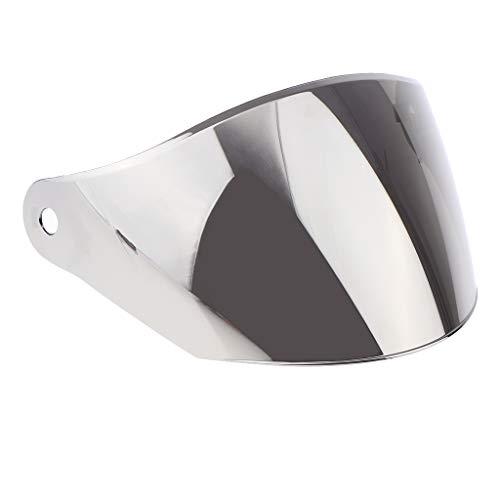prasku Rider Full Face Helmet Len Visor Parabrisas para JK-902 - Lente de plata