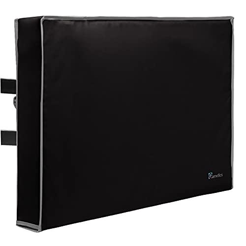 Outdoor TV Abdeckung 40 Zoll, 42 Zoll, 43 Zoll – Universal wetterfester Schutz für Flachbildfernseher – passend für die meisten TV-Halterungen und Ständer – Schwarz