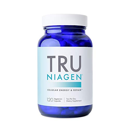 TRU NIAGEN NAD+ Booster Supplement Nicotinamide Riboside NR for Energy Metabolism, Cellular Repair, & Healthy Aging (Patented Formula) More Efficient Than NMN - 120 Count (2 Months / 1 Bottle)