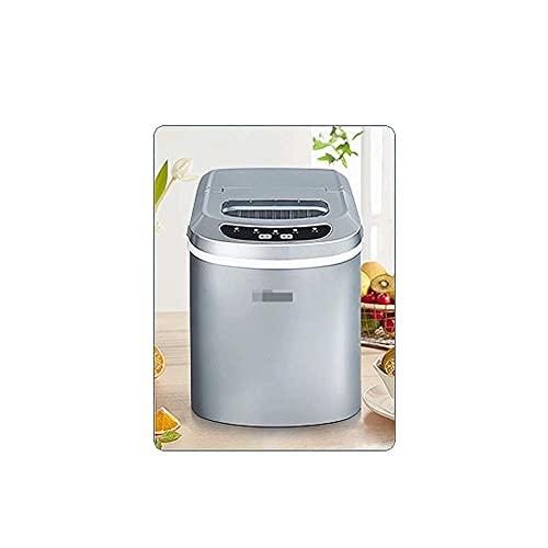 SHKUU Máquina para Hacer Hielo en la encimera para hogar, máquina para Hacer Cubitos Hielo, operación fácil silenciosa, para Cocina en casa, máquina para Hacer Hielo rápida compacta