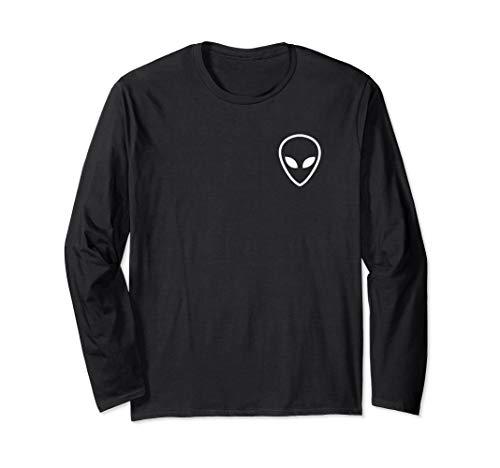 Alien Head Pocket Graphic Long Sleeve T-Shirt