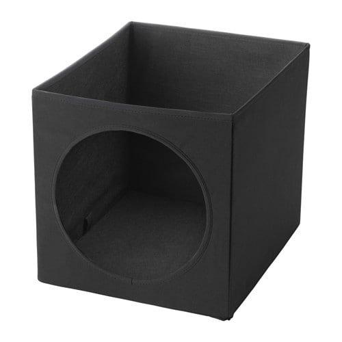 I K E A Katzenhaus Luvrig Katzenbox/Katzenhöhle für Kallax-/Expedit-Regale - 33x38x33 cm - zusammenfaltbar, transportabel