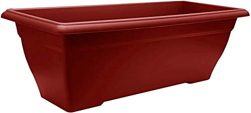 Poetic PRI40R Prisca 40 Jardinière Plastique Rouge 40 x 21 x 16,9 cm