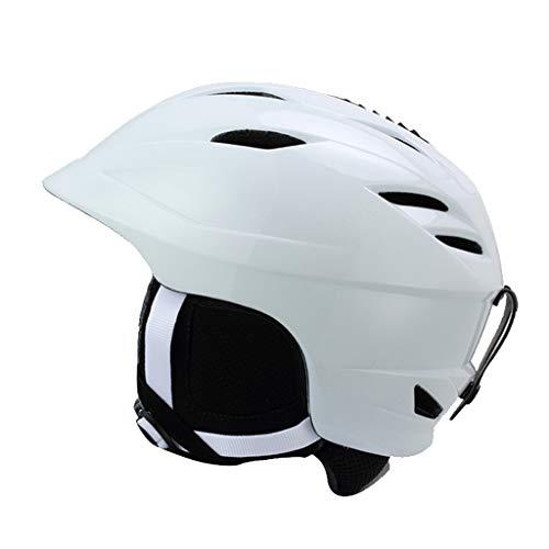 AZBYC Warme Skihelm, skihelm Voor mens, vrouwen Beginners, Snowboard Helm, (Wit