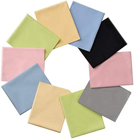12 Pack Assorted Colors Microfiber Cleaning Cloths Cleans Lenses Glasses Screens Cameras iPad product image