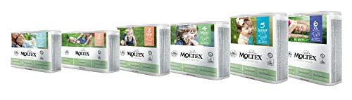 Karton MOLTEX pure & nature Öko-Windeln Babywindeln (XL Gr 6 (16-30 kg) 105 St.)