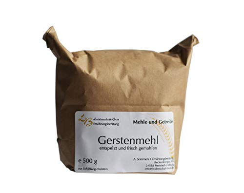 0,5 kg Gerstenmehl, vollkorn, frisch gemahlen