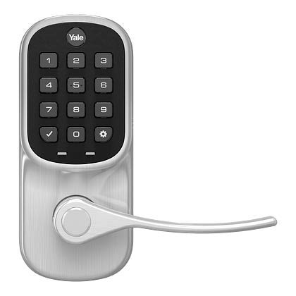 Liftmaster myQ Key Free Smart Lock with Touchscreen Keypad Lever, in Satin Nickel with myQ Smart Garage Control (LMLEVPACK-SN 821LMC)