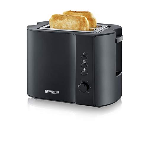 SEVERIN AT 9552 Automatik-Toaster (800 W, Inkl. Brötchen-Röstaufsatz, 2 Röstkammern) schwarz/matt