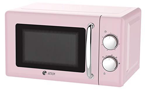 Microondas vintage básico colores pastel (Rosa)