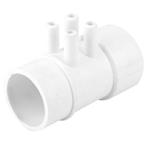 AMONIDA Colector de plomería de PVC Resistente al envejecimiento, colector de plomería Conveniente, Material de PVC, Estanque de Peces de Aguas Termales, bañera de Masaje, Piscina