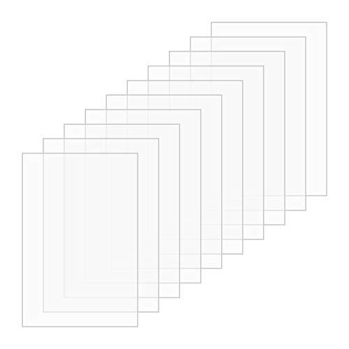 Plexiglas durchsichtige Acrylplatte,10 Stück 150x100x2 MM Plexiglas-Sicherheitsverglasungsrahmen-Kunststoffplatte,quadratische Acrylplatte für die Anzeige von Ersatzglasschildern aus Bilderrahmen