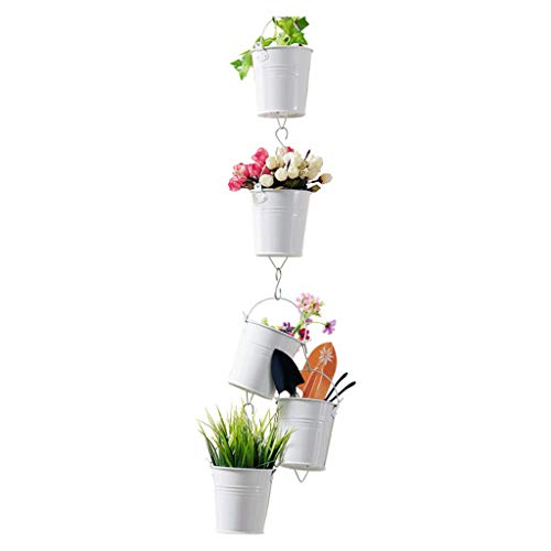 Jardinière jardinière suspendue jardinière suspendue jardinière antirouille à la rouille balcon jardinière étagère de jardin cour terrasse balcon ( Color : Blanc , Size : 10*10.3cm )
