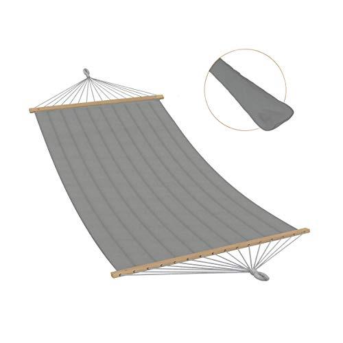 Ampel 24 - Hamac Aruba 200x120 cm | Toile pour Une Personne | rembourrée | avec Barres d'écartement et Coussin | Charge maximale jusqu'à 120 kg