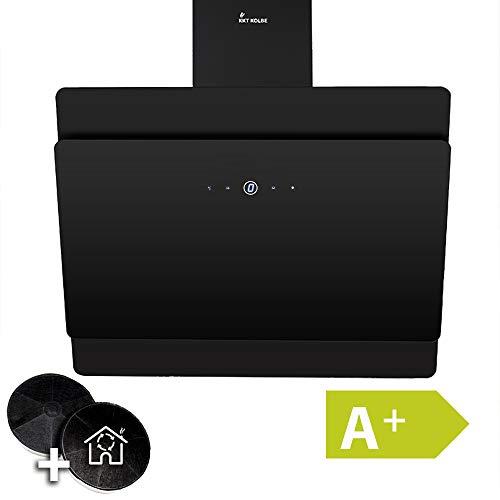 Afzuigkap, wandafzuigkap (80cm, roestvrij staal, zwart glas, A+ rendement, LED-verlichting, display, TouchSelect-sensortoetsen) SOLO809S - KKT KOLBE