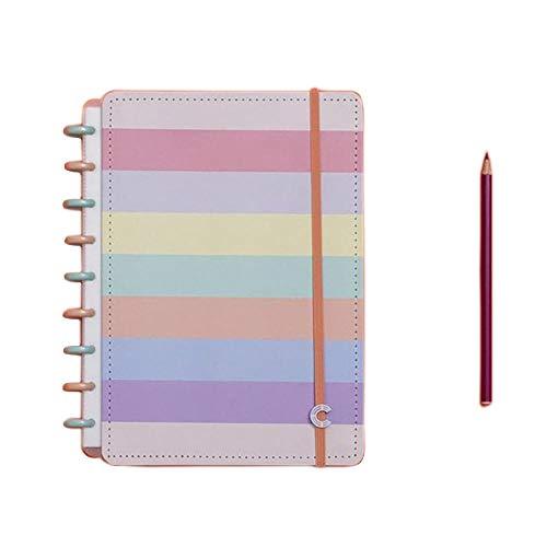 Caderno Inteligente, Médio, Arco-íris Pastel, 190x255mm, 80 Folhas
