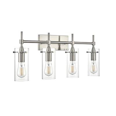 Effimero 4 Light Bathroom Vanity Light | Brushed Nickel Hallway Wall Sconce LL-WL34-1BN