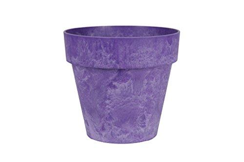 Artstone Pflanzgefäß Pflanzkübel Luna, frostbeständig und leichtgewichtig, 36 x 34 cm, violett