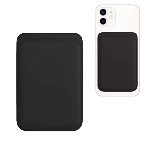 iGuard Portefeuille magnétique MagSafe pour Apple iPhone 12/12 Mini, 12 Pro, 12 Pro Max, avec porte-cartes RFID, noir