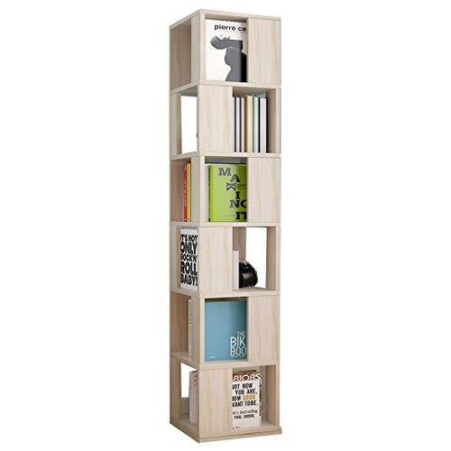 DUOER-libreria Scaffale Girevole Verticale a 360 ° Multifunzione, Armadio a 6 Ripiani assemblato Armadietto portaoggetti (Color : B)