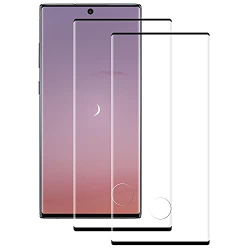 FayTun Vetro Temperato per Samsung Galaxy Note 10, 2 Pezzi 3D Curvo Copertura Completa Pellicola Protettiva, HD Ultra Trasparente, Durezza 9H, Anti Graffio, Anti-Impronte, Senza Bolle
