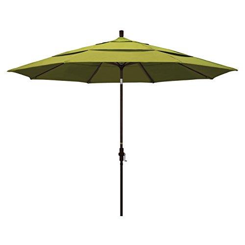 California Umbrella GSCU118117-F55-DWV Regenschirm, 30,3 m, rund, aus Aluminium, Kurbelhebebühne, Kragenneigung, kiwi