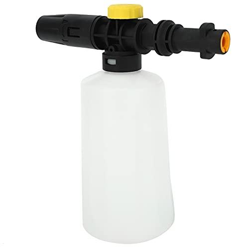 LilyJudy Lanza de Espuma de Nieve para Karcher K2 - K7 Caaón Pistola de Espuma de Alta Presión Boquilla de Espuma Portátil de Todo Plástico Lavadero de Coche Pulverizador de Jabón