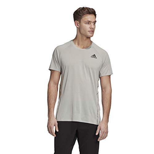 adidas mens Adi Runner Tee Metal Grey X-Large
