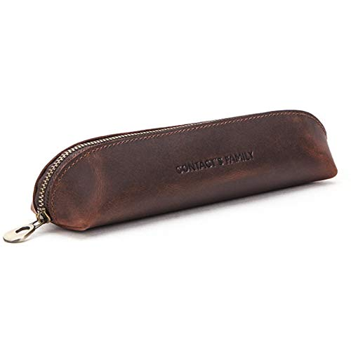 Leather Handmade Vintage Pencil Case Pencil Bag School Stationary Travel Collection Stationery Gifts