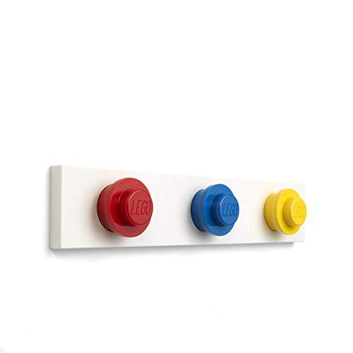 Room Copenhagen Conjunto de colgadores de Pared Lego, Amarillo, Azul, Rojo, One Size