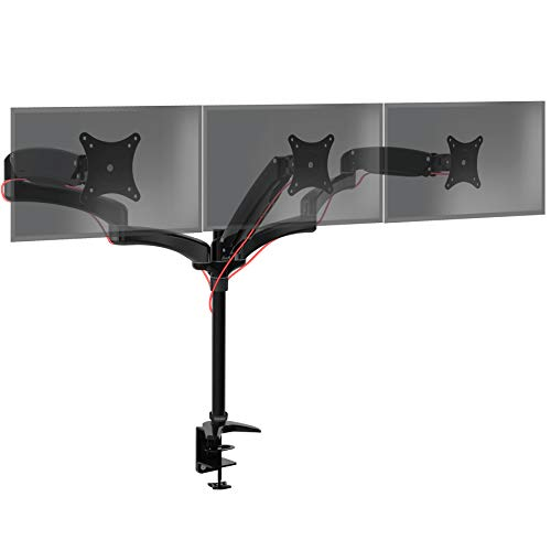 Duronic DM553 Monitorhalterung/Tischhalterung/Monitorarme/Monitorständer für LCD/LED Computer Bildschirme/Fernsehgeräte mit Neig und Rotierfunktion