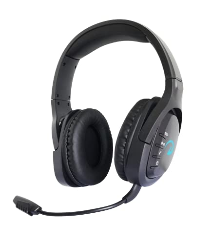 KIWAHK Gaming Headset für PC PS4 PS5 PC Xbox One, Bluetooth Kopfhörer, Over-Ear Gaming Kopfhörer Virtual 7.1Surround Sound mit abnehmbares Noise Cancelling Mikrofon, für Laptop, Mac Computer, Schwarz