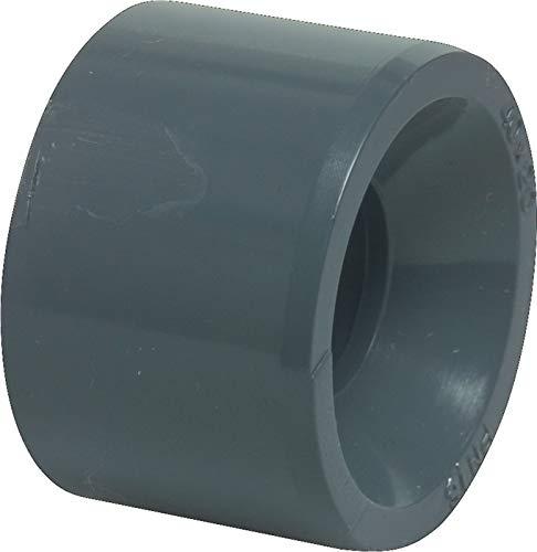 Liquipipe GmbH Manchon de réduction en PVC court 32 mm Gris PN16 25 mm
