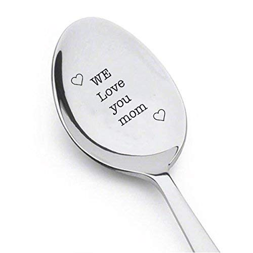 We Love You Mom engraved spoon - Happy Mother's Day -...