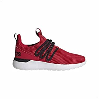 Adidas Lite Racer Adapt 3.0 Mesh Pull-Tab Back-Logo Lace-Up Running Sneakers for Kids - Scarlet Red and Core Black, 37 1/3 EU