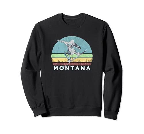 Montana - Tabla de snowboard, diseño retro vintage Sudadera