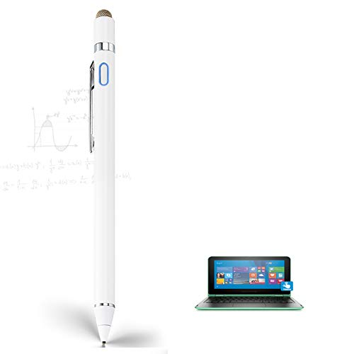 Stylus Pen for HP Pavilion X360 2 in 1 Laptop, EDIVIA Digital Pencil with 1.5mm Ultra Fine Tip Pencil for HP Pavilion X360 2 in 1 Laptop Stylus, White