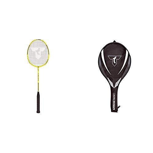 Talbot Torro Badmintonschläger Isoforce 651.8, 100% Carbon4, Long-Schaft für maximale Power, 439556 3/4 Badminton-Schlägerhülle, 449156