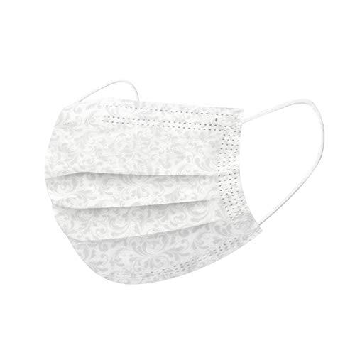 50 Stück Einmal-Mundschutz, Staubs-chutz Atmungsaktive Mundbedeckung, Erwachsene, Bandana Face-Mouth Cover Sommerschal (c)