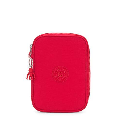 Kipling Estuche para 100 bolígrafos, rojo, rojo, 15,2 cm de largo x 20,5 cm de alto x 5,8 cm de profundidad