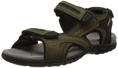 Geox Uomo Sandal Strada D, Sportivi, Giallo Militare, 44 EU